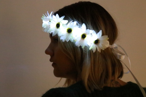Light Up Flower Crown White Festival Fashion Trends