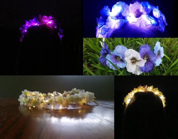 Make your own Light Up LED flower crown | Wearables Workshop