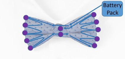 Bowtie LED Diagram Wearables Workshop