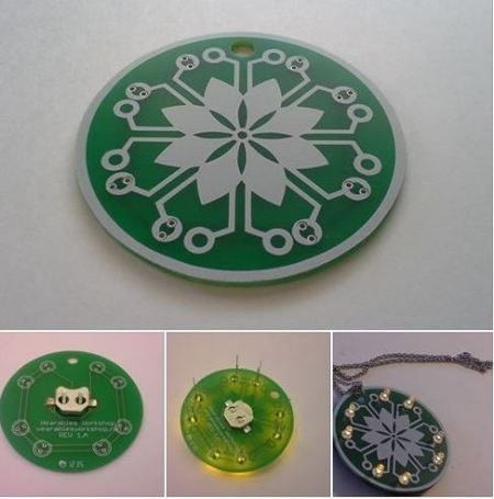 LED Flower Necklace Learn to Solder Kit featured image