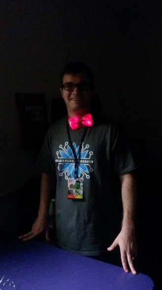 Wearables Workshop Maker Faire Orlando LED Bowtie(50)